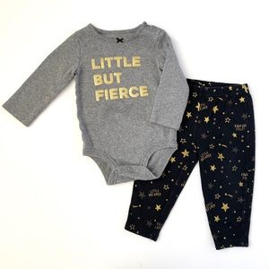 """Little But Fierce"" Bodysuit & Matching Leggings"